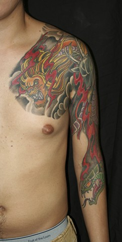 Chest and half sleeve of Chimera