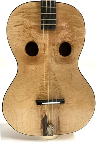 Flamed Maple Guitar - Detail