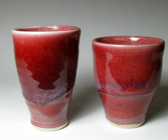 copper red cup tumbler pottery