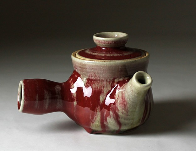 Red Japanese Teapot