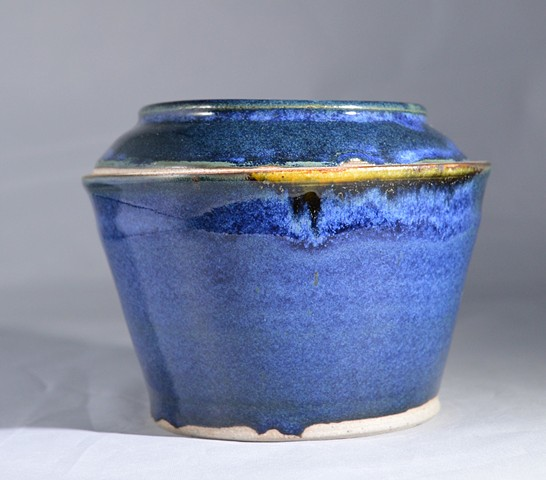 COBALT BLUE LIDDED JAR
