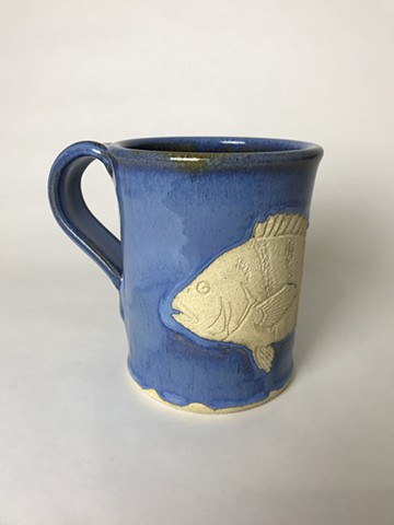 Hand Carved Sheepshead Mug (a)