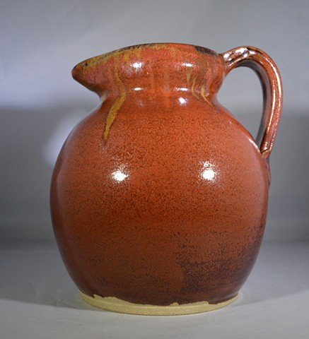 Brown and Yellow Pitcher