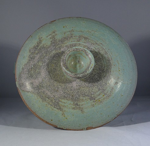 Lid of Turquoise Casserole Baking Dish