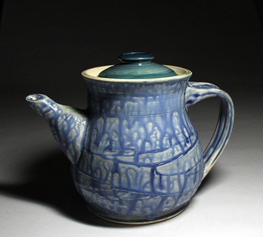 white stoneware fake ash cobalt water blue glaze