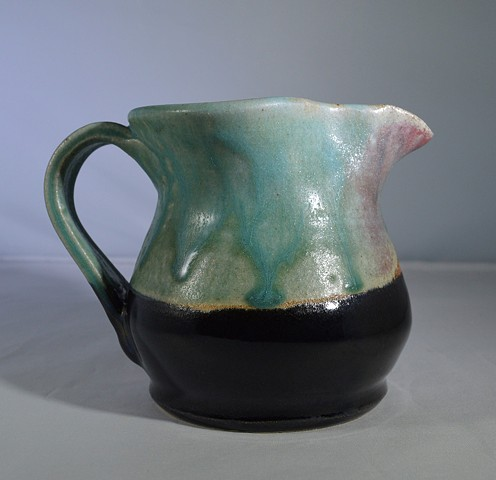 TURQUOISE AND BLACK CREAMER
