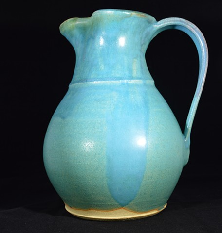 Large Turquoise Pitcher
