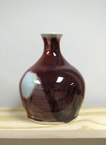 copper red bottle porcelain