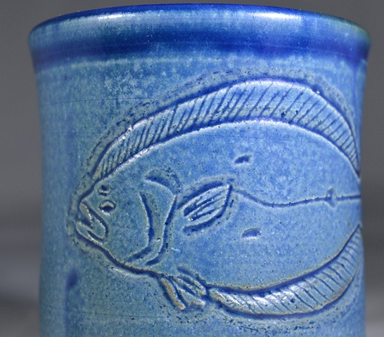 Hand Carved Flounder Cup (a)