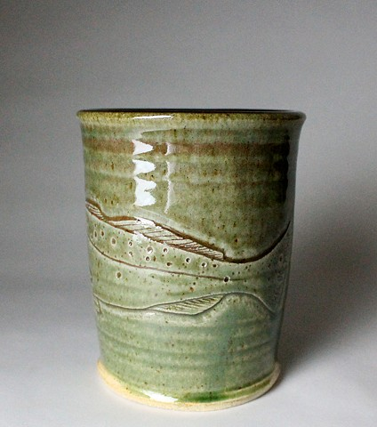 Hand Carved Speckled Trout Tumbler (c)