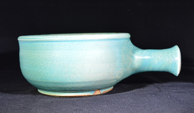 Turquoise Hollow Handled Bowl