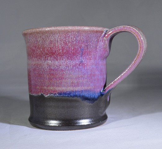 RED BLACK AND BLUE MUG
