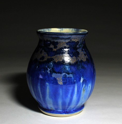 Crystalline Blue Small Vase