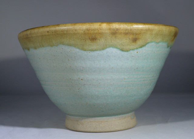 TURQUOISE AND BROWN BOWL