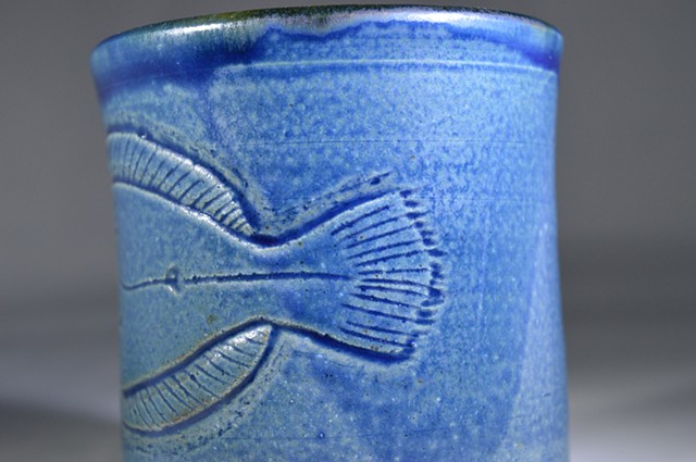 Hand Carved Flounder Cup (b)