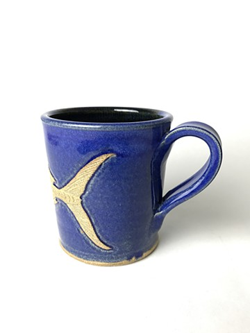 Hand Carved Spanish Mackerel Fish Mug (c)
