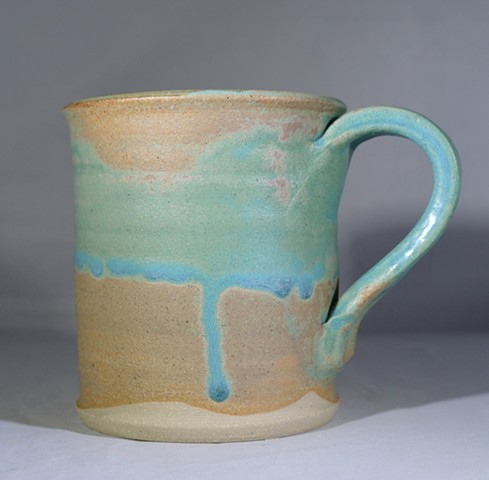 Turquoise and Brown Mug