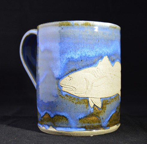 Carved Redfish Mug