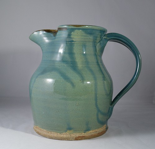 SMALL BLUE GREEN PITCHER