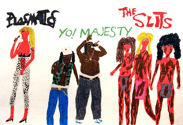 Yo Majesty, The Slits and Tracy from the Plasmatics