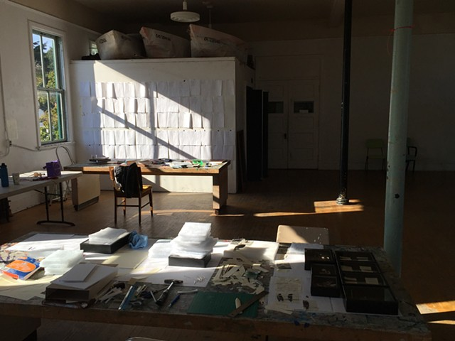 Studio, Centrum Residency, book in progress