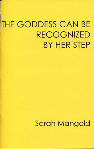 The Goddess Can Be Recognized By Her Step, Dusie Kollektiv poetry chapbook