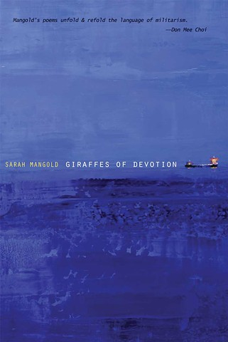Book cover for Giraffes of Devotion a documentary poetics book by Sarah Mangold.  U.S. Naval Institute, erasure, documentary poetics, Navy, Commander Roy C. Smith Jr, Annapolis, US Navy