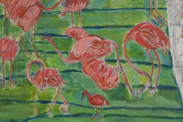 Culling Flamingos (detail)