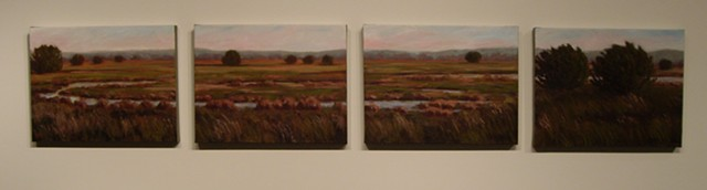 Oxbow (Four Canvases)
