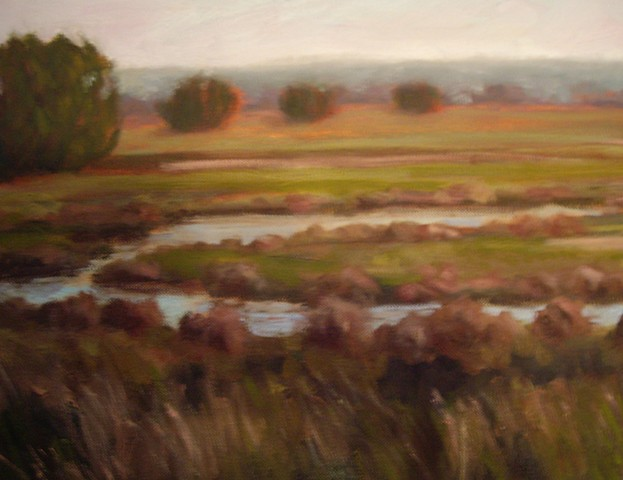 Oxbow, (One Canvas of four)