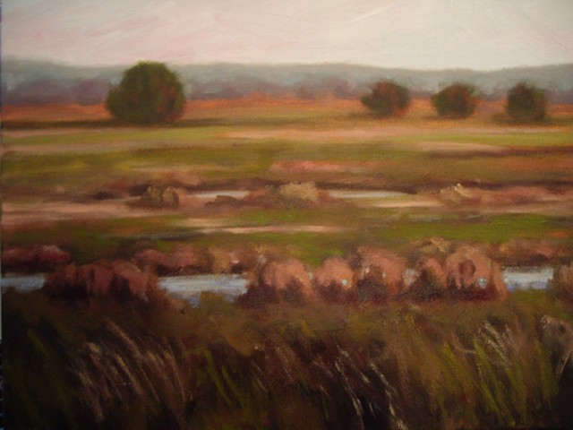 Oxbow (One canvas of four)