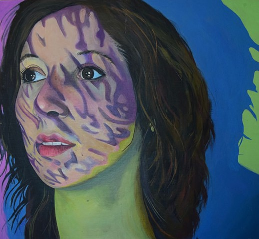 emily lovejoy Artist art painting acrylic on canvas portrait of jordan koppens by emily lovejoy emily lovejoy art artist painting new orleans