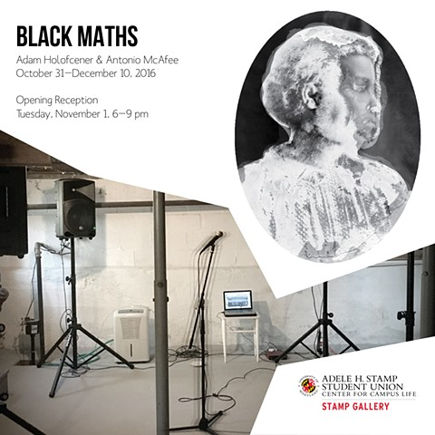 "Two-Person Exhibition ""Black Maths"" at The Stamp Gallery"