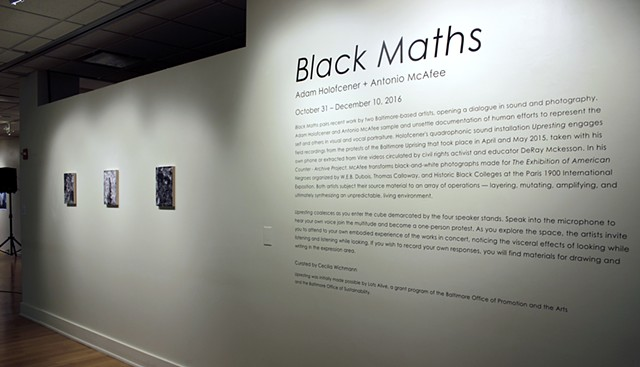 Black Maths (University of Maryland, College Park, Stamp Gallery (2016))
