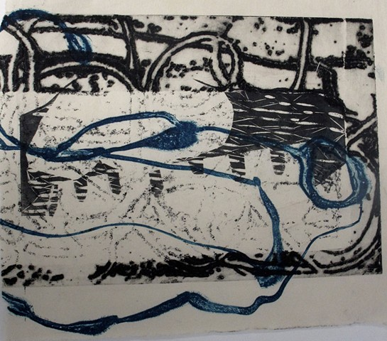 untitled (graphic black and blue)
