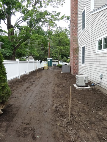 Side yard before planting