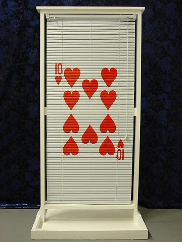 Card Blind in Window Frame