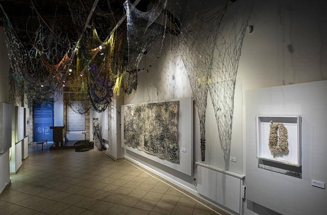 Dimitra Skandali, Contemporary Art, Installation Art, Site-Specific Installation, Aegean Sea, Paros, Greek Art, San Francisco art, seaweed, Alyki, Bay Area Art, LA Art, Museum show