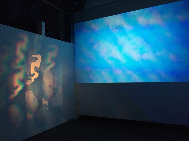 Slide projections by Oliver Leach, and Sky Prism by Oliver Leach and Amelia Konow