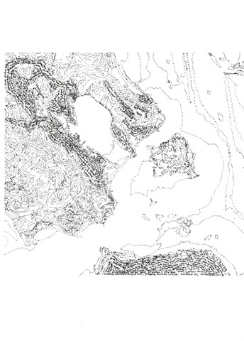 ink on tracing paper, maps, Bay Area, Dimitra Skandali, Don Soker Contemporary, San Francisco, poetry