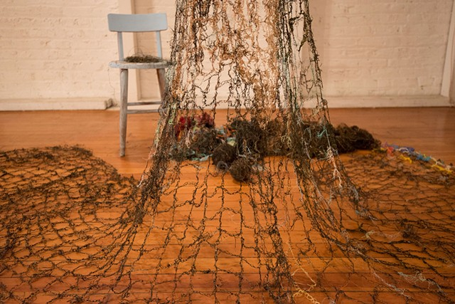 Dimitra Skandali, Contemporary Art, Aegean Sea, Paros, Greek Art, San Francisco art, seaweed, seaweed dress, obsidere, Microclimate collective, Alter Space, Glenna Cole Allee, Victoria Mara Heilweil