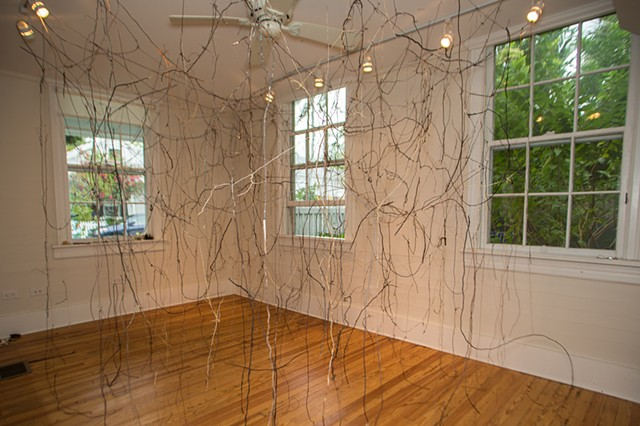 Dimitra Skandali, Contemporary Art, Key West, The Studios of Key West, roots, site specific installation, natural materials, Atlantic Ocean, Caribbean Sea, artist in residence