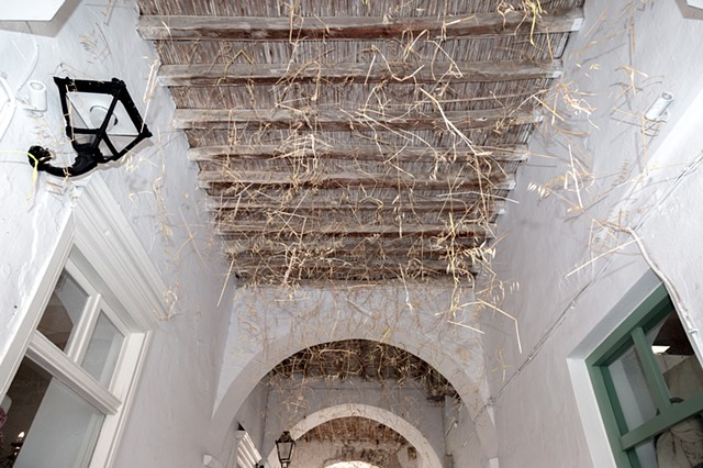Dimitra Skandali, Paros, Greece, Aegean Sea, Site specific installation, natural materials, Cyclades, Greek art, Bay Area artist, Los Angeles artist, San Francisco artist