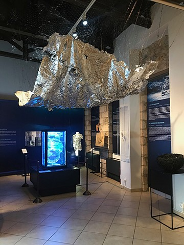 Dimitra Skandali, Contemporary Art, Ocean Pollution, Aegean Sea, Paros, Greek Art, San Francisco art, seaweed, Alyki, Bay Area Art, LA Art, Museum show, Herakleidon Museum, Connecting Oceans, installation art, site specific installation