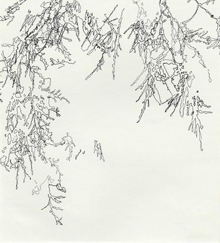 drawing, Aegean Sea, Amorgos, Paros, Greece, Dimitra Skandali, Don Soker Contemporary Art, San Francisco