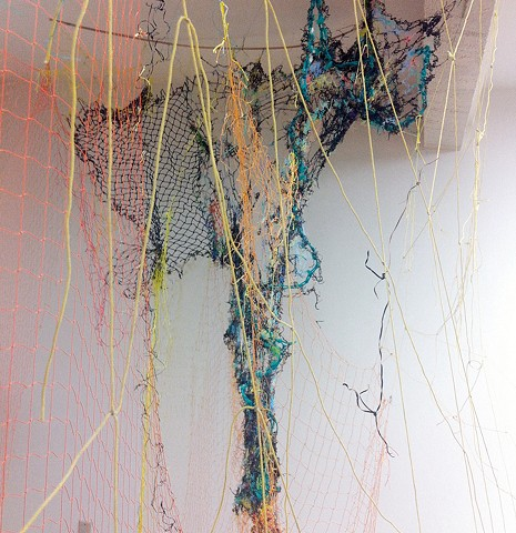 seaweed, crocheted seagrass, fishing nets, Cyclades, Aegean Sea, Greece, Pacific, Dimitra Skandali, Don Soker Gallery, San Francisco