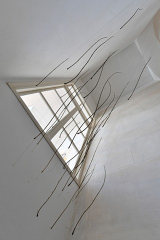 Dimitra Skandali, Paros, Greece, Aegean Sea, Site specific installation, natural materials, branches