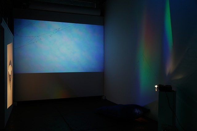 Slide projections by Oliver Leach, Sky Prism and Oceanic Prism by Oliver Leach and Amelia Konow