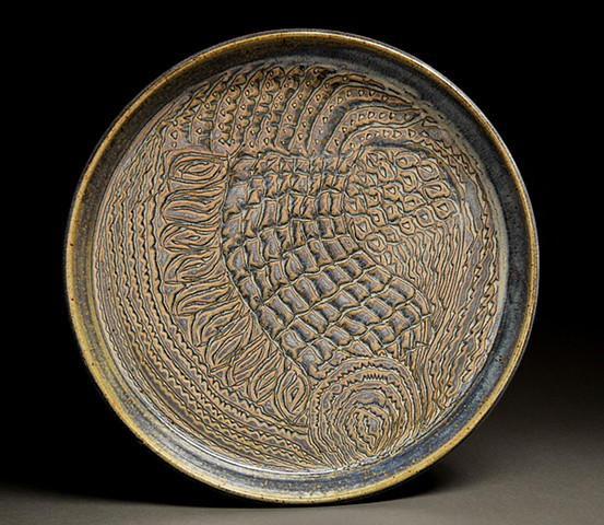 Carved Rutile Plate