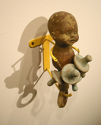 Pacifier Sculpture, Baby Rattle Sculpture,  pacifier addiction